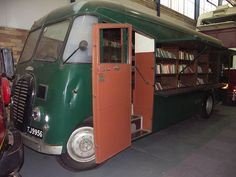A traveling library used in Johannesburg, South Africa between 1955 and Now housed at the James Hall museum of Transport in Johannesburg.