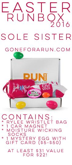 29 best easter running gifts images on pinterest running gifts show your sole sister how much you love her this easter with a runbox designed just negle Image collections