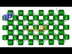 Монастырское плетение бисером одной иглой (крестиком)/Right angle weave. 3D урок - YouTube