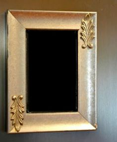 Small Silver Magnetic Chalk Board by ReinventingOrdinary on Etsy, $14.00