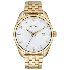 Nixon Bullet Watch ($200) ❤ liked on Polyvore featuring jewelry, watches, stainless steel wrist watch, nixon watches, bullet jewelry, nixon jewelry and stainless steel jewelry