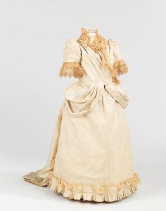Flower girl ensemble Date: 1891 Culture: American Medium: silk