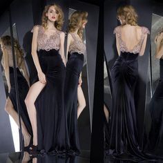 Evening dress long design 2014 racerback slim hip fish tail fashion formal dress evening dress