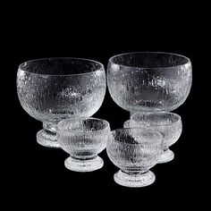 "TIMO SARPANEVA - Glassware from the ""Kekkerit'' range designed 1972 for Iittala, Finland.   [h.18 cm, 9 cm]"