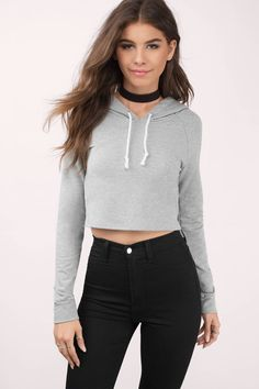 "Search ""Bad Gal Heather Grey Hoodie"" on Tobi.com! cropped crop sweatshirt pullover hooded heather gray #ShopTobi #fashion shop buy cheap inexpensive ideas chic fashion style fashionable stylish comfy simple chic essential capsule Basic outfit simple easy trendy ideas for women teens cute college fall winter summer spring outfit outfits comfortable shorts work school classy everyday business california LA"