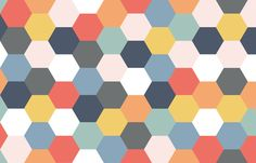 Hexagons wholecloth fabric by stitch+press on Spoonflower - custom fabric