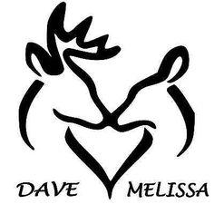 Browning Buck and Doe Deer Heads Heart Personalized Vinyl Decal Sticker**WHITE** Hirsch Silhouette, Browning Symbol, Browning Logo, Deer Stencil, Deer Design, Logo Design, Wood Burning Patterns, Wood Burning Stencils, Window Stickers