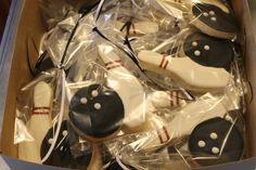 Bowling cookies by Ladybugcakesdotcom on Etsy