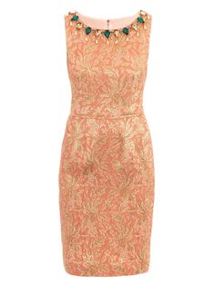 Image detail for -Metallic silk-brocade shift dress | Dolce & Gabbana | Matchesf...