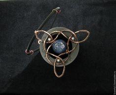 Купить Кулон Узел Бригит - темно-синий, амулет, женский оберег, кельтика, кельтский узел