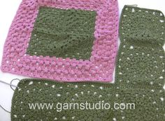 DROPS Crocheting Tutorial: How to do more assembly to the blanket in DR...