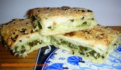 Ispanakli Borek - Turkish spinach and cheese pie; makes a delicious appetizer, snack or lunch