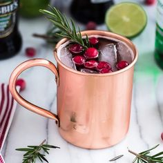 Get in the Seasonal Spirit With This Holiday Spin on the Moscow Mule: The following recipe was originally featured on Hot Beauty Health and written by Diana Ajih, who is part of POPSUGAR Select Food.