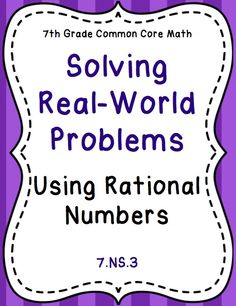 20 best rational numbers images on pinterest integers activities rational number real world word problems stations activity 7ns3 ibookread Download