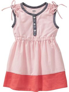 Sleeveless Color-Block Dresses for Baby Product Image