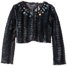 Big Girls' Faux Fur Cropped Jacket