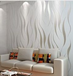 Online Shop Modern papel de parede embossed wallpaper living room bedding tv wall paper roll feature textured home decoration 3d Wallpaper Living Room, Wall Wallpaper, Wallpaper Wallpapers, Wall Texture Design, Wall Design, Living Room Designs, Living Room Decor, Bedroom Decor, Master Bedroom
