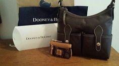 New Dooney and Bourke handbag wallet set. Florentine Vacchetta Leather brown.