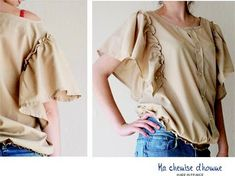 super cute men's shirt refashion--in french but that's what google translate is for!