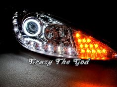 206/206cc 1998-2010 98-10 CCFL Angel-Eye Projector LED R8 HEADLIGHT CH Peugeot | eBay