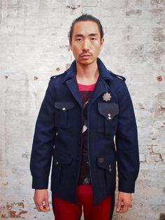 Gsus New Kremlin Wool Blend Military Jacket: $465 Gsus Pim Library Add Left Right T-Shirt: $75 Gsus Block 2-Tone Pants: $165