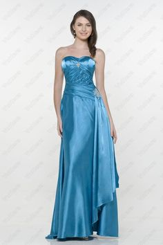 New Arrival Ruched Beaded Blue Evening Dress Bridesmaid Dresses Online, Prom Dresses Uk, Blue Evening Dresses, Evening Gowns, Blue Dresses, Strapless Dress Formal, Formal Dresses, Dress P, Party Dress