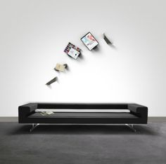 Creative bookshelves modern modular fascinating Leicht Weiß wall