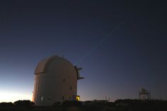 ESA's Optical Ground Station laser tags ISS  - The future of space communications was illuminated by this test, as a laser beam was shone from ESA's Optical Ground Station in Tenerife to the International Space Station in orbit.