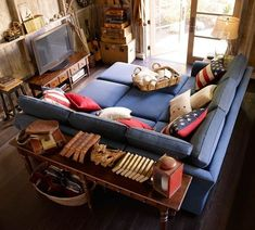 Such a fan of these big couches! There's never enough room on my skinny couch! -> 19 Couches That Ensure You'll Never Leave Your Home Again Pit Couch, Pit Sectional, Cuddle Couch, Most Comfortable Couch, Comfy Sofa, Home Goods Decor, Home Decor, Cool Couches, Cool House Designs
