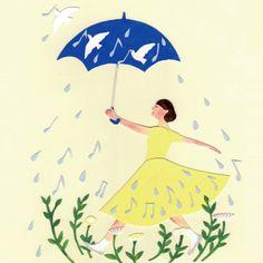 旅する音楽 2014 - 「雨のワルツ」メインイラスト/ 西 淑