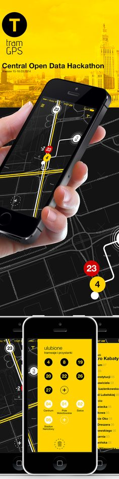 tram gps app #hackaton by Michal Galubinski, via Behance