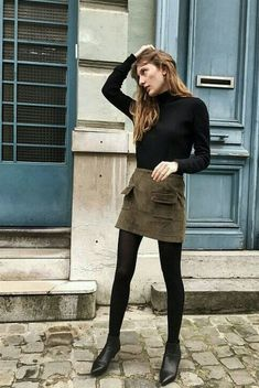 8 Autumn Outfits I Wore to New York Fashion Week Winter Skirt Outfit, Winter Outfits Women, Casual Winter Outfits, Fall Outfits, Curvy Outfits, Mode Outfits, Skirt Outfits, Fashion Outfits, Womens Fashion
