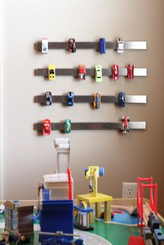 So Smart, Cars with Metal Frames kept on a magnetic strip! Keeping Up With The Souths: Pinterest Project-- Just Hangin' Around