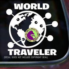 WORLD TRAVELER Decal Sticker