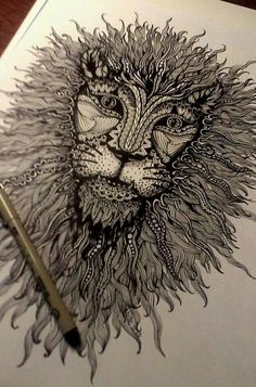 Zentangle lion