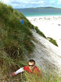 Dune climbing during the Annual Sandcastle Competition. Self Catering Cottages, Outer Hebrides, Sand Casting, Dune, Climbing, Beaches, Beach House, Scotland, Competition