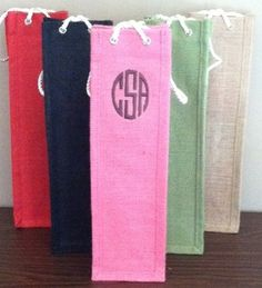 cute monogrammed wine back. perfect for a gift!