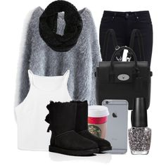 12/21/14 by mufassa on Polyvore featuring Chicwish, Paige Denim, UGG Australia, Mulberry and OPI