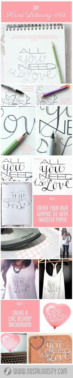 DIY Hand Lettering Art + Freebie! | Nostalgiosity - Nostalgia Meets Curiosity ❤