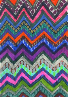 PATTERN {Chevron 001} Art Print by schatzibrown