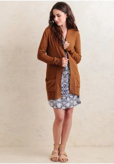 On The Road Cardigan In Brown   Modern Vintage Clothing   Ruche