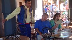 Cast members' costumes at Spice Road Table include braided Moroccan vests. Epcot Restaurants, Disney Dining, Places To Eat, Vests, Moroccan, Spices, Costumes, Table, Spice