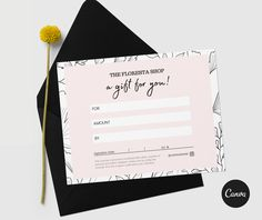 Floresta PRINTABLE gift certificate EDITABLE template Double Sided Business Cards, Bi Fold Brochure, Certificate Design, Gift Certificates, All Fonts, Print Templates, Business Names, Knowledge, Printables