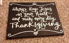 Custom 11x14 Always Keep Jesus in your Heart by BiblebyHand, $30.00
