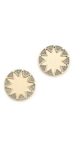 House of Harlow 1960 Earth Metal Sunburst Stud Earrings | SHOPBOP