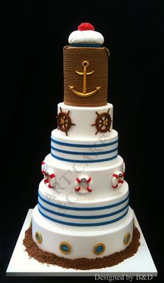 Nautical wedding cake