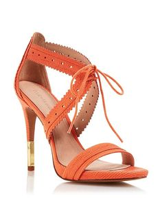 wantering-heels: Pour La Victoire Lace Up Dress Sandals - Shanna High HeelShop for more like this on Wantering!