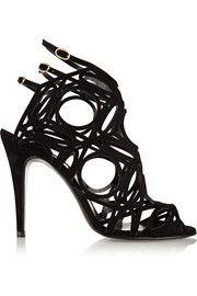 Pierre HardyLaser-cut suede sandals