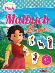 Heidi - Malbuch mit 40 Stickern / Heidi - painting book with 40 embroiderers