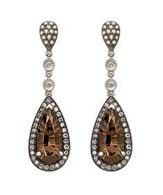 Chocolate diamond teardrop earrings. Finally my two favourite things combined - Chocolate and Diamonds